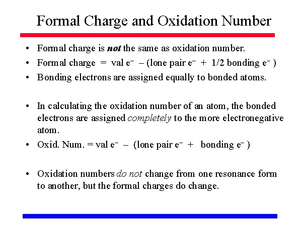 Formal Charge And Oxidation Number
