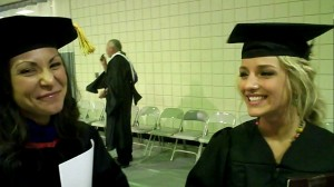 Dr. Heidi DiFrancesca and her protege 2010 Graduate Amanda Miller